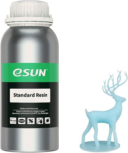 eSUN光造形3Dプリンター用LCDUVレジン500ml光硬化可能汎用樹脂photon等の3Dプリンタ向け(ライトブルー)
