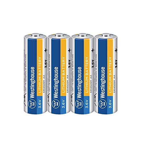 - Westinghouse 14505 AA Size 3.6v Lithium Thionyl Chloride Non-Rechargeable Primary Battery (4 Count)