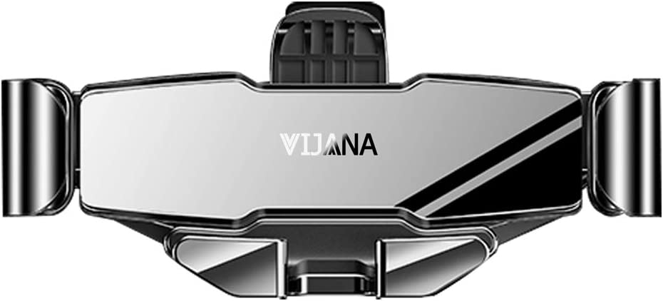 VIJANA Phone Car Holder Mount Car Accessories Cell Phone Stand for Car Air Vent Holder Automatic Retractable Clip for 4 to 6.5 inches Smartphones