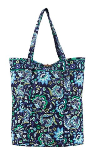 Quilted Purse, Handbag, Wallet - Tropical Blue, Floral Baja Blue Carry All Travel