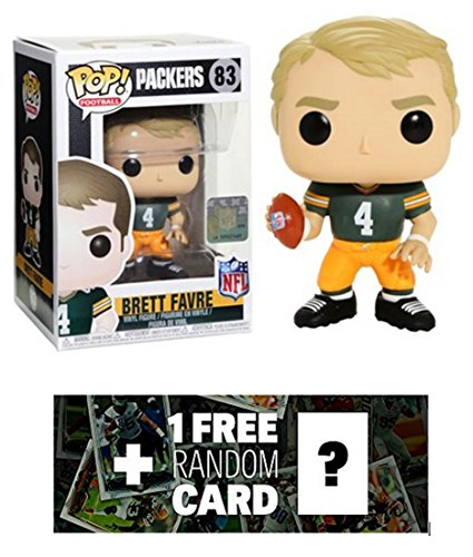 Brett Favre [Green Bay Home]: Funko POP! Football x NFL Legends Vinyl Figure + 1 Official NFL Trading Card Bundle - Bay Green Shopping