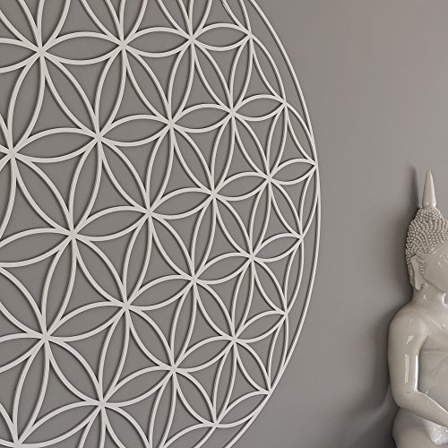 (HomeArtDecor | Flower of Life Sacred Geometry Wall Art | High Quality Polyvinyl Chloride | Office Decoration | Home Decoration | Easy to Apply | Milling Fretwork | Lattice)