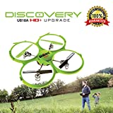 UDI 818A HD+ RC Quadcopter Drone with HD Camera, Return Home Function and Headless Mode - EXTRA BATTERY Doubles Flight Time (Lime Green)