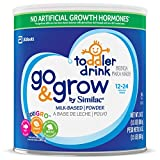 Similac Go & Grow Milk-Based Toddler Drink, Powder, 24 oz (Pack of 6)