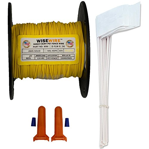 (Wisewire Boundary Wire Kit WW-K-P/20 Gauge/500' / 50 Flags)