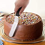 PUCKWAY Angled Icing Spatula, Stainless Steel