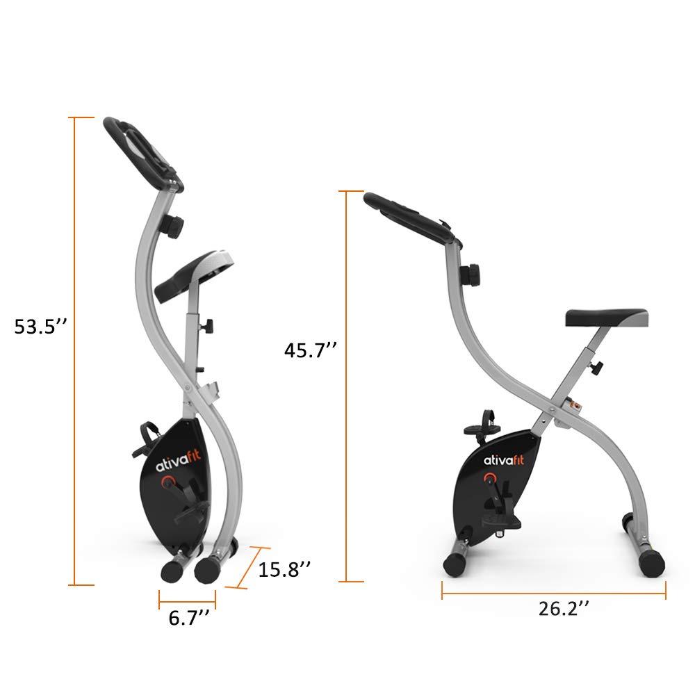 ATIVAFIT Indoor Cycling Bike Folding Magnetic Upright Bike Stationary Bike Recumbent Exercise Bike (Grey) by ATIVAFIT (Image #6)