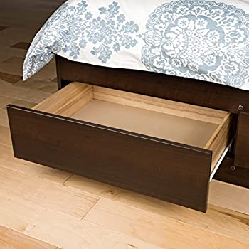 Prepac Espresso Full Mate's Platform Storage Bed with 6 Drawers