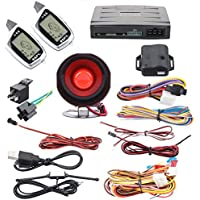 SPY 2 way car alarm system remote engine start keyless entry LCD display shock sensor turbo timer rechargeable remote