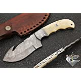 Custom Damascus Hunting Knife - Skinning Knife GladiatorsGuild 65