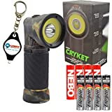 Nebo 6549 Cryket Camo 3-in-1 LED Flashlight/Work Light/Green LED with 4 Extra Energizer AAA Batteries and LightJunction Keychain Light