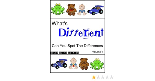 Whats Different (Can you spot the differences (Color Blind Edition) Book 1)