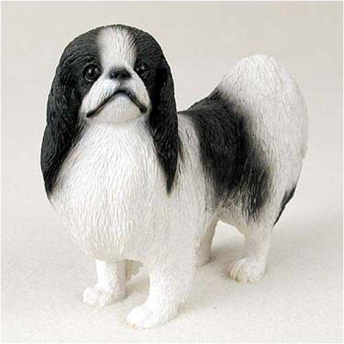- Japanese Chin, Black/White Original Dog Figurine (4in-5in)