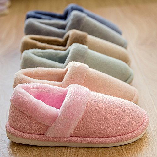 Green Bootie Clog House Cotton Women's Slipper Slip Indoor Shoes Anti Slippers Winter mianshe Fuzzy Men's fHwEq6