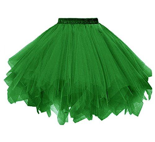Dressever Vintage 1950s Short Tulle Petticoat Ballet Bubble Tutu Grass Green XXLarge/XXX-Large