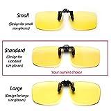 Cyxus Blue Light Filter (Clip On) Computer Glasses, UV Blocking Anti Eye Strain Unisex Reading Eyewear (standard size)
