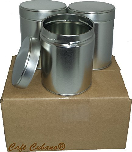 Tea Tins Wide Set with Twist Lid Cover - Set of 6 Pieces - Great Airtight Canister for Storing Tea and Other Small Items.
