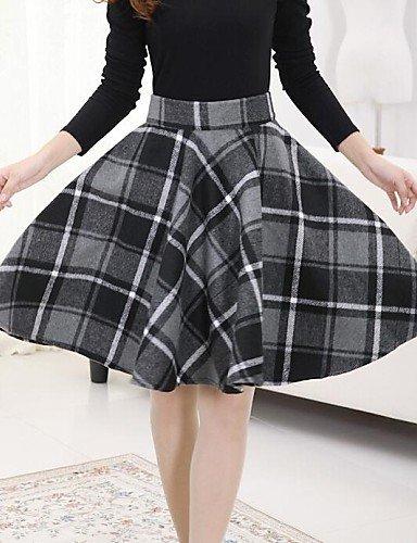 GSP-Frauen Tweed Streifen Rock mit Gürtel (weitere Farben)