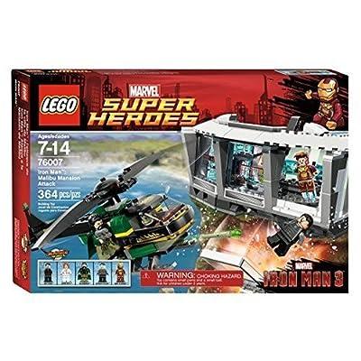 LEGO Super Heroes Iron Man Malibu Mansion Attack (76007): Toys & Games