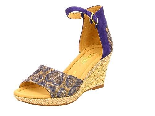 Bleu Gabor Sandales compensées & à plateforme | Sandales