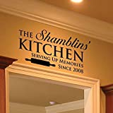 Family Name Decal – 0005 – Family Name Sign – Wall Decor – Wall Decals – Wall Stickers – Kitchen Decor – Kitchen Art – Kitchen Sign