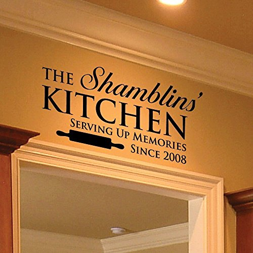 Family Name Decal - 0005 - Family Name Sign - Wall Decor - W