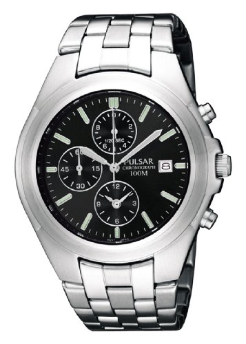 Pulsar Men's PF8209 Chronograph Silver-Tone Stainless Steel Watch