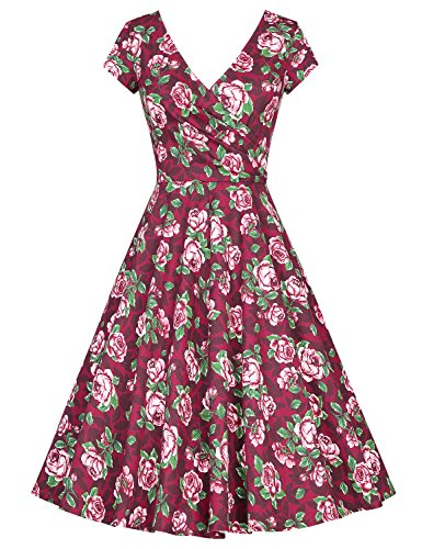MUXXN Womens Vintage Sleeve Floral