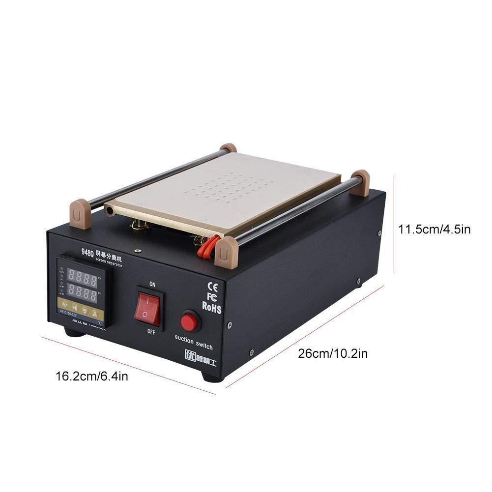 SOULONG 400W 2 en 1 Vacuum /Écran LCD R/éparation Machine Screen s/éparateur pour t/él/éphone Portable//Tablette 26 x 16 x 11 cm
