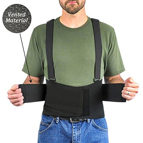 Ventilated Adjustable Suspenders Compression Non Moisture