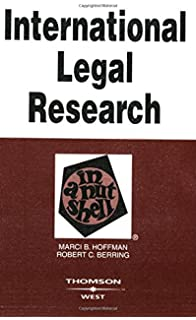 Image of International Legal Research book cover