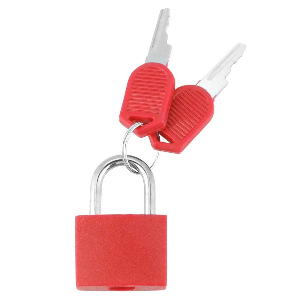 8 Colors Padlock with 2 Keys, Safe Keyed Lock for Suitcase Jewelry Box Storage Case Diary(F)