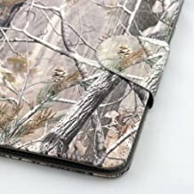 Universal Tablet Case Cover (7co) for 7 Inch Size Ultra Slim and Low Weight Pu Leather Folio Style Fits HKC Touch 7 (Camouflage Camo Flag Realtree Mossy Oak Hunting)