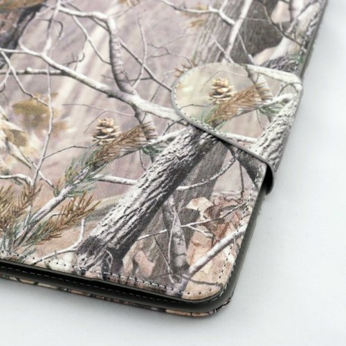 Universal Tablet Case Cover (7co) for 7 Inch Size Ultra Slim and Low Weight Pu Leather Folio Style Fits Sprint ZTE Optik V55 Ztesv55tab (Camouflage Camo Flag Realtree Mossy Oak Hunting)
