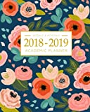 img - for 2018-2019 Academic Planner Weekly And Monthly: Calendar Schedule Organizer and Journal Notebook With Inspirational Quotes And Navy Floral Lettering Cover (August 2018 through July 2019) book / textbook / text book