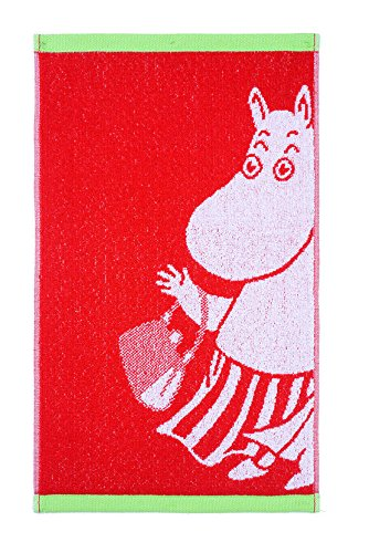 Finlayson Moomin Moominmamma Hand Towel, Cotton, Red, 30 x 50 cm 70552-1417-01-12