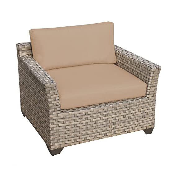 TK Classics Monterey 3 Piece Outdoor Wicker Patio Furniture Set 03a, Beige - FULLY ASSEMBLED - Seating area is ready to use and enjoy with family and friends Cushions - Easy Care plush cushions for a luxurious look and feel Cushion Covers - Washable and zippered for easy cleaning (air dry only) - patio-furniture, patio, conversation-sets - 51FWN0dGLIL. SS570  -