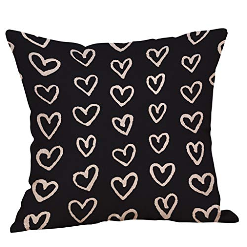 VECDUO Clearance Sale! Throw Pillow Case Happy Valentine's Day Sweet Love Square Cushion Cover, 18x18 -
