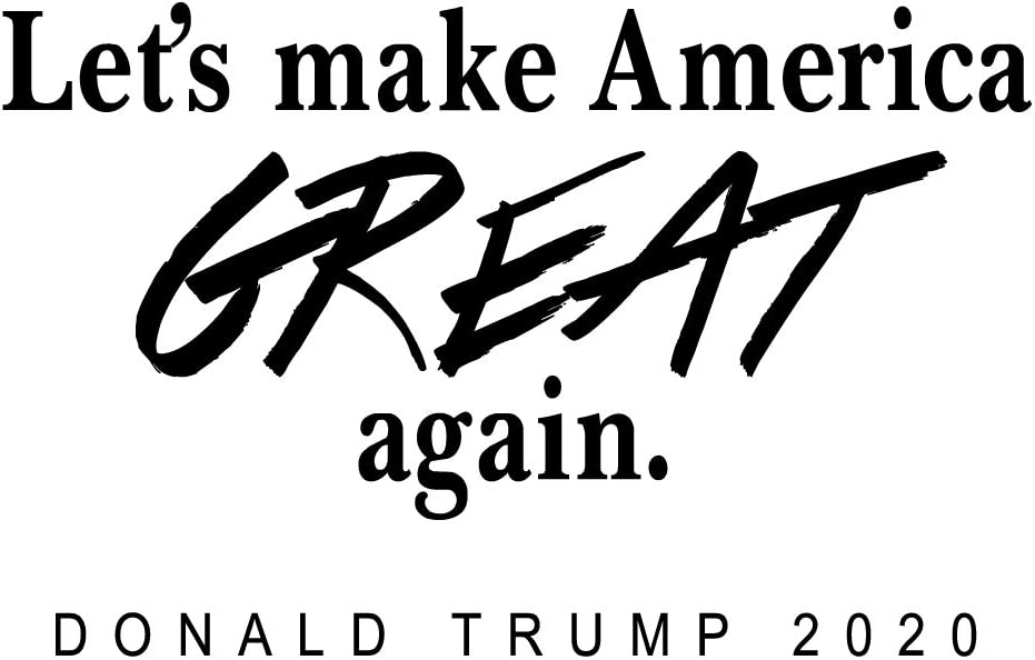 ZSSZ Let's Make America Great Again. Donald Trump 2020 Selection Slogan MAGA Vinyl Wall Decals Motto Prisident Quotes Home Décor