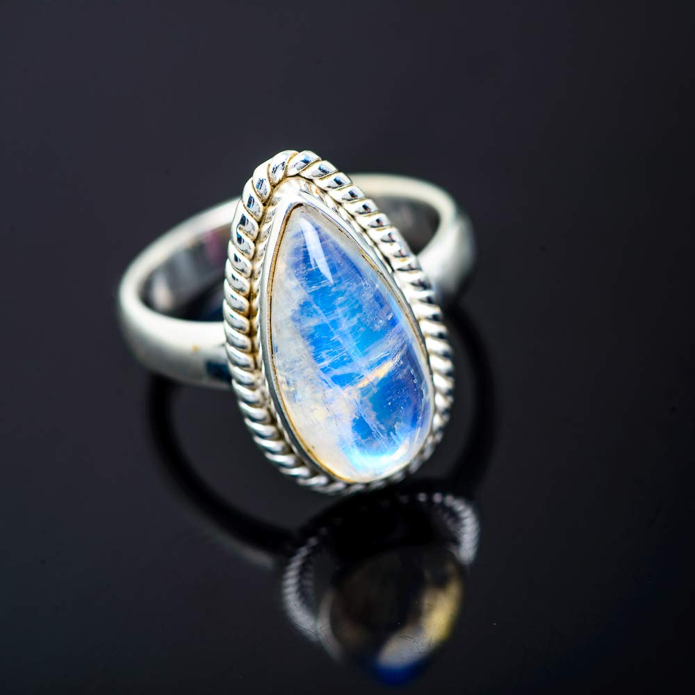 Bohemian Ana Silver Co Rainbow Moonstone Ring Size 6.25 Vintage RING950839 - Handmade Jewelry 925 Sterling Silver