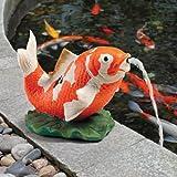 Design Toscano Kohaku Asian Koi Piped Spitter Statue