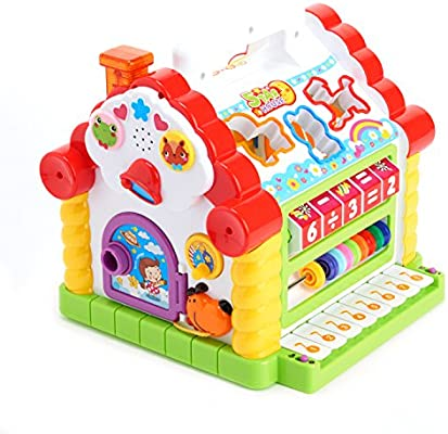 Educational Kids Activity Cube Toddler Baby  Learning Toy Musical Play Center