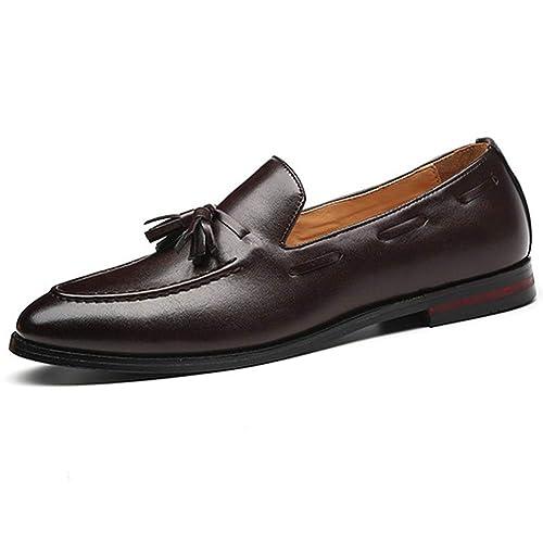 Mocasines para los Hombres de Negocios de Moda Borla Zapatos de conducción: Amazon.es: Zapatos y complementos