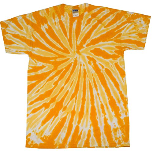 Gold Dye Tie (Colortone Tie Dye T-Shirt MD Twist Gold)
