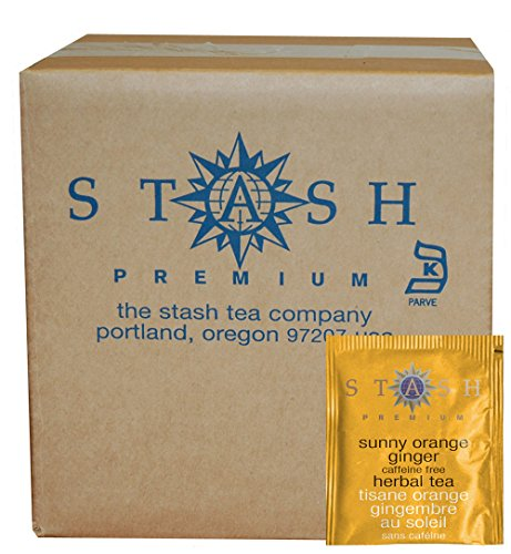 Stash Tea Sunny Orange Ginger Herbal Tea, 100 Count (packaging may vary)