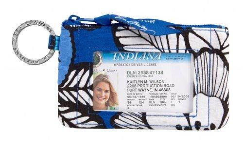 (Vera Bradley Zip ID Case Blue Bayou)