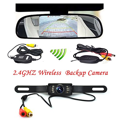 Podofo-43-Car-TFT-LCD-Mirror-Monitor-Wireless-Reverse-Car-Rear-View-Backup-Camera-Kit-Black