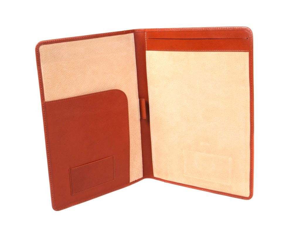 SAGEBROWN Light Tan A4 Leather Folder