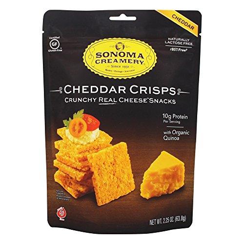 SONOMA CREAMERY, Cracker, Cheddar Crisp, Pack of 12, Size 2.25 OZ, (Gluten Free Wheat Free Yeast Free)