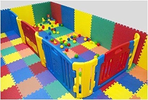 16 x Suelo Para niños, EVA Puzzle Colchonetas 60cm x 60cm x12mm